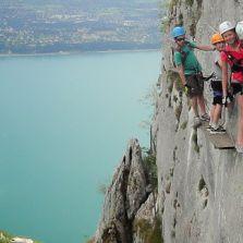 À la découverte de la via Ferrata au dessus du lac d'Annecy