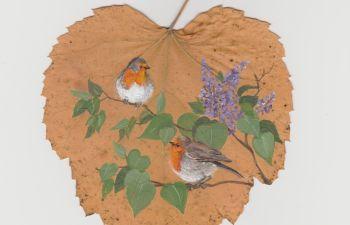 Initiation à la peinture sur feuilles d'arbres !