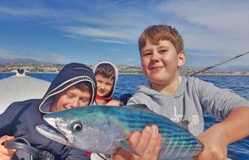 Stage ou Baptême  de pêche en mer en bateau sur la Côte d'Azur