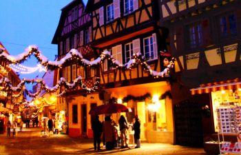 Marchés de Noël typiques : excursion d'une journée en Alsace