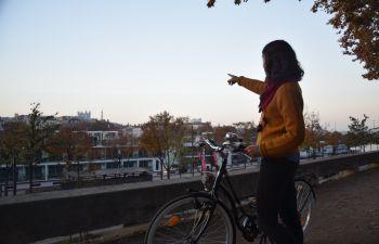 Visite guidée de Lyon à vélo Vintage Peugeot