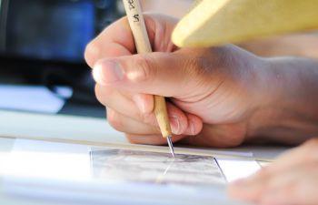 Atelier de gravure à la pointe sèche
