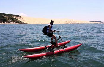 Randonnée en waterbike sous la Dune du Pilat