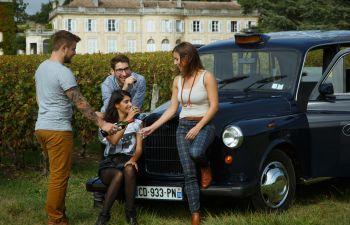 Visite de châteaux en taxi anglais dans le Médoc