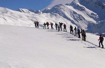Sommet du Pic de Barran en raquettes à neige